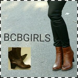 BCBGIRLS DISTRESSED LEATHER BOOTS